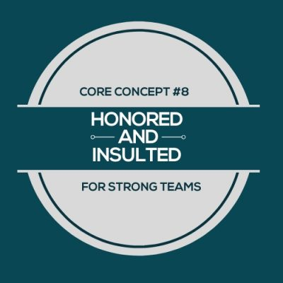 Honored And Insulted: Finding Energizing Tasks At Work. This is core concept #8 in the stronger teams series of 9 episodes that spelled out S.T.R.E.N.G.T.H.S.