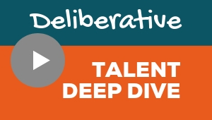 Image showing a video player with Deliberative talent theme deep dive