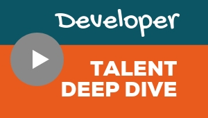 Image showing a video player with Developer talent theme deep dive