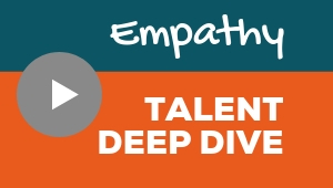 Image showing a video player with Empathy talent theme deep dive