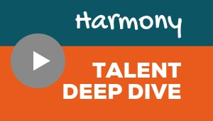 Image showing a video player with Harmony talent theme deep dive