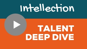 Image showing a video player with Intellection talent theme deep dive