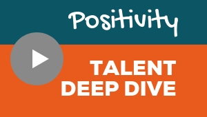 Image showing a video player with Positivity talent theme deep dive