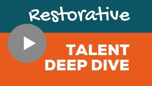 Image showing a video player with Restorative talent theme deep dive