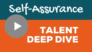 Image showing a video player with Self-Assurance talent theme deep dive