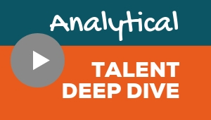 Image showing a video player with Analytical talent theme deep dive