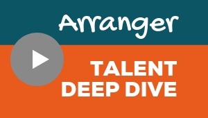 Image showing a video player with Arranger talent theme deep dive