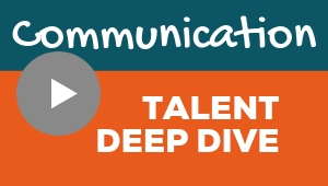 Image showing a video player with Communication talent theme deep dive