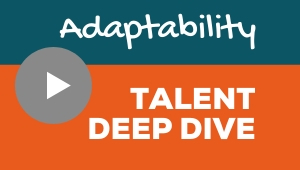 Image showing a video player with Adaptability talent theme deep dive