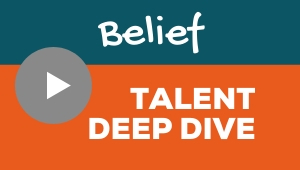 Image showing a video player with Belief talent theme deep dive