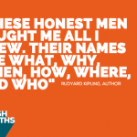 "StrengthsFinder Quote for Input Talent ""These honest men taught me all I knew, their names are what, why, when, how, where, and who"""