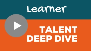 Image showing a video player with Learner talent theme deep dive