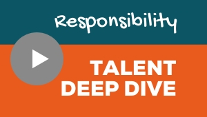 Image showing a video player with Responsibility talent theme deep dive
