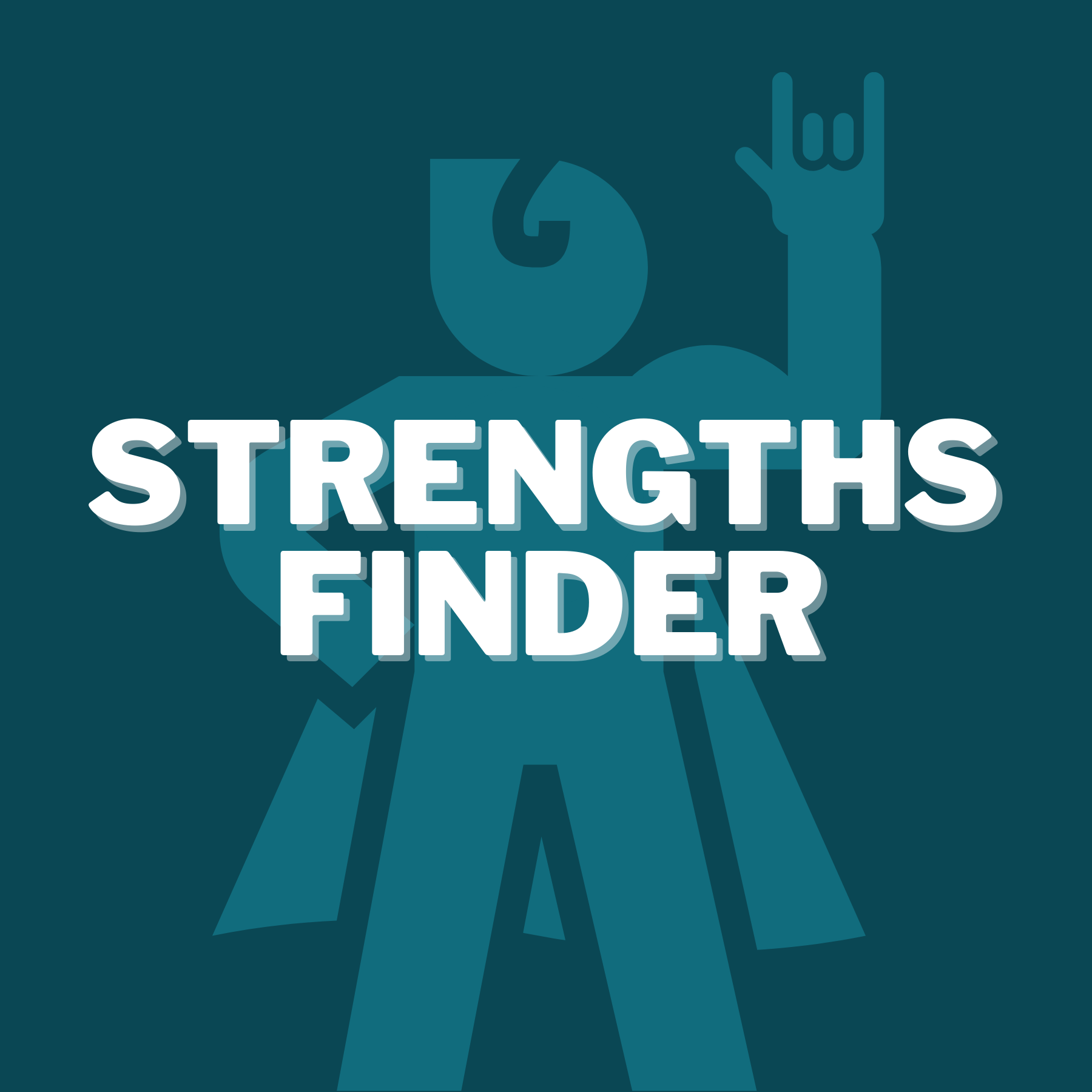 Strengths Finder Training Icon - Shows the Super Power Person Inside You Because He's Attending StrengthsFinder Virtual Training