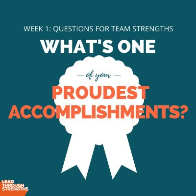 [Image] Week 1: Questions for Team Strengths (Implementing StrengthsFinders)