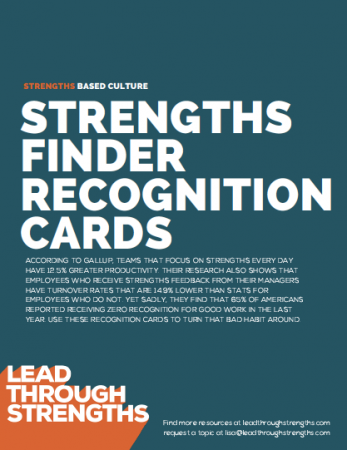 Printable cards, By StrengthsFinder Talent Theme, To Give Out As You Spot That Talent In Action